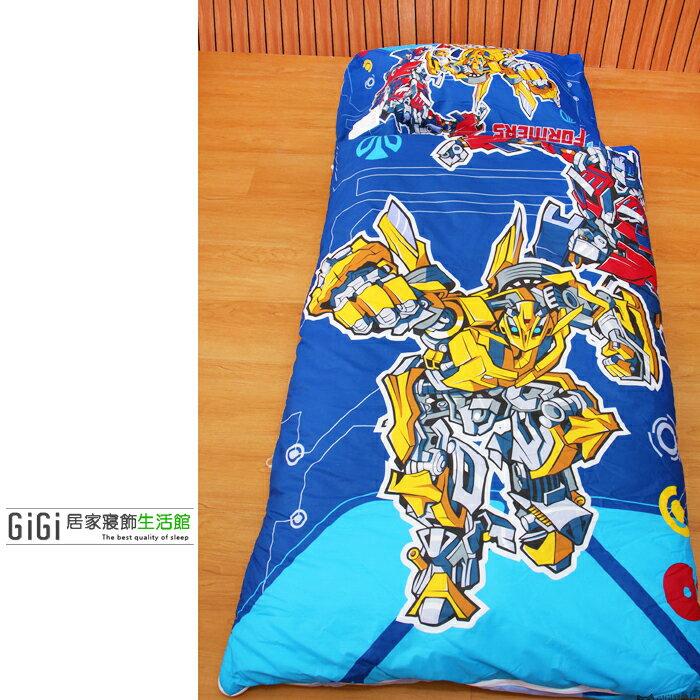 《GiGi居家寢飾生活館》兒童卡通睡袋 台灣製造 變形金剛