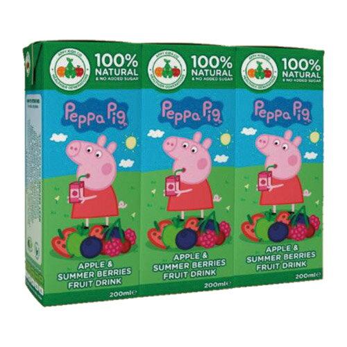 ~衛立兒 館~~Peppa Pig~粉紅豬小妹^(佩佩豬^)~蘋果野莓風味果汁200ml^