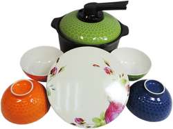 【SunEasy生活館】YATAI 雅泰1.8L養生煲健康鍋碗六件組