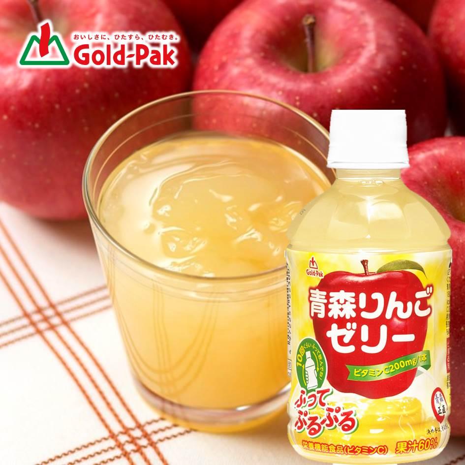 【Gold-Pak】青森苹果果汁摇摇果冻饮 275ml ゴールドパック 青森りんごゼリー 日本进口饮料