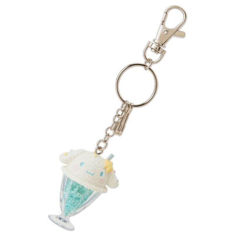 X射線【C810996】大耳狗Cinnamoroll 漂浮汽水型鑰匙圈,絨毛/填充玩偶/玩具/公仔/鑰匙圈/吊飾/玩偶/包包吊飾