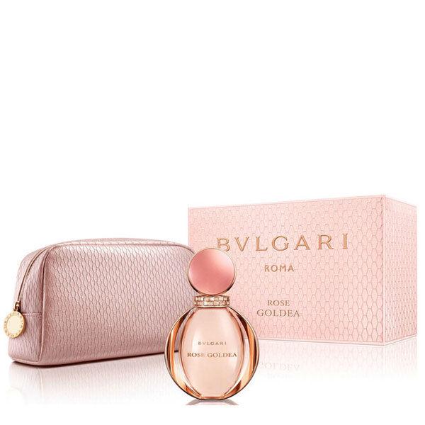 倍莉小舖:BVLGARI寶格麗玫瑰金漾淡香精禮盒(90ml+化妝包)【A004613】《Belle倍莉小舖》