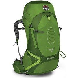 【鄉野情戶外專業】 Osprey |美國| ATMOS AG 50 網架輕量登山背包 休閒 健行 登山 旅行背包-艾綠M Atmos50AG-AG