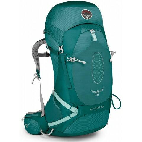 【鄉野情戶外專業】 Osprey |美國| Aura 50 AG 網架輕量登山背包 休閒 健行 登山 旅行背包-雨綠S Aura50AG-RG