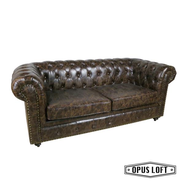 ★熱銷★復古LOFT工業風鉚釘經典款軟皮雙人沙發皮革沙發深褐色沙發