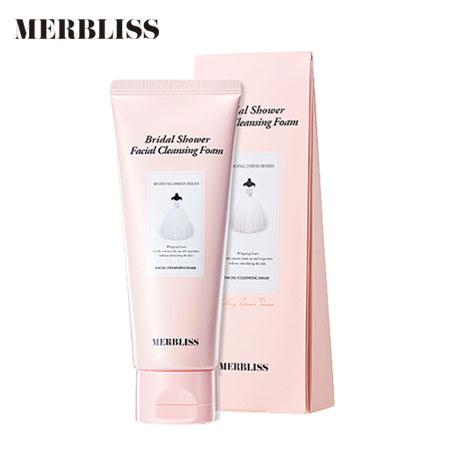 韓國Merbliss婚紗少女心珍珠保濕清透潔面乳100m潔面乳洗顏乳洗面乳洗臉【N202800】