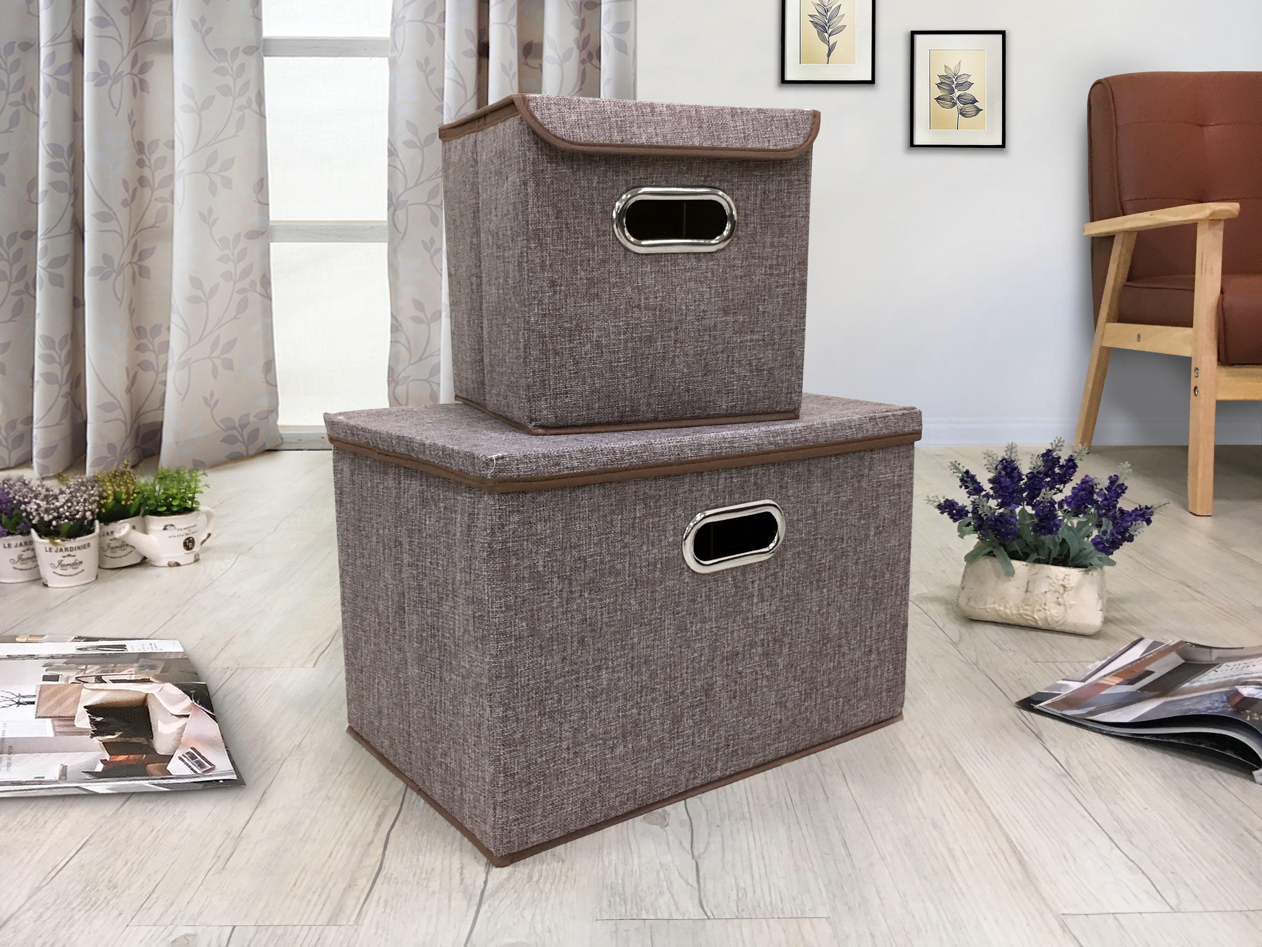 !新生活家具!《朵拉》灰色 簡約 素雅 大/小收納箱 儲物箱 整理箱 玩具儲物箱 雜物收納 六色 非 H&D ikea 宜家