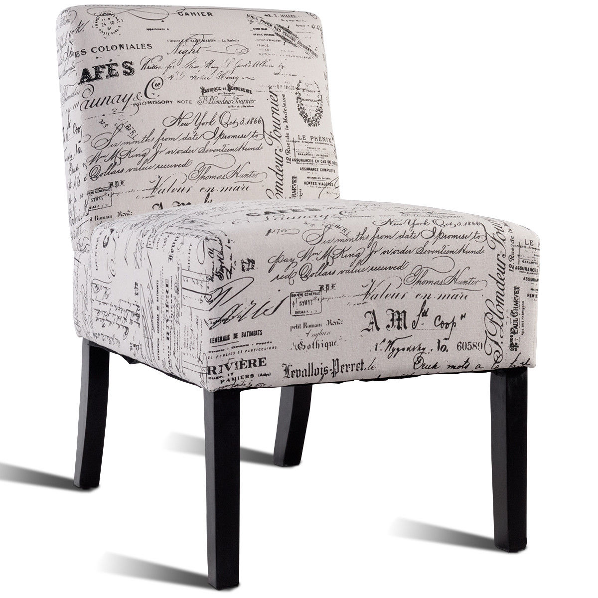 Costway Costway Modern Contemporary Fabric Upholstered Armless