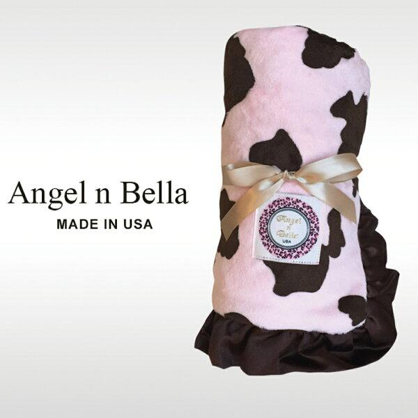 【麗嬰房】美國AngelnBella頂級攜帶毯-粉紅小牛