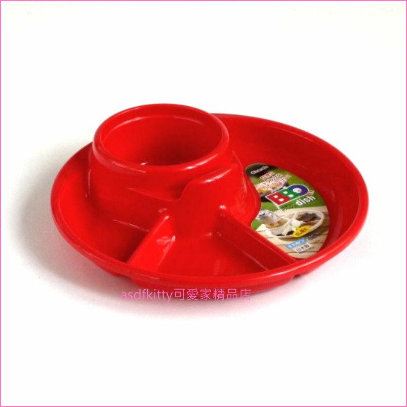asdfkitty可愛家☆日本製-紅色便利餐盤/兒童餐盤-單手拿飲料跟餐點-野餐.烤肉.派對聚餐都好用
