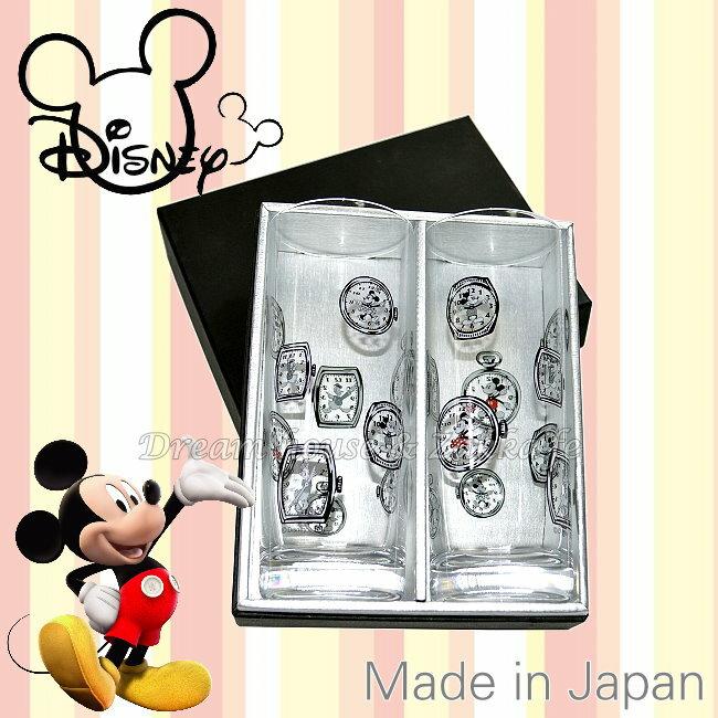 日本正版 Disney 迪士尼 米奇 玻璃杯/果汁杯/水杯/對杯 250ml 《 2個一組 》★ 日本製 ★ 夢想家精品生活家飾
