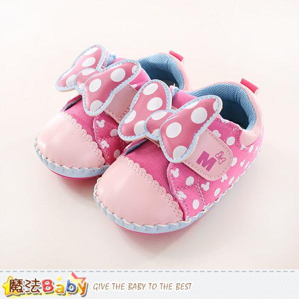 寶寶鞋 迪士尼米妮正版真皮中底專櫃款 魔法Baby~sh9887