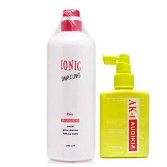AK1 頭皮調理液(頭皮水)150g+ IONIC 艾爾妮可 玫瑰精油洗髮精 1000ml (燙染後)