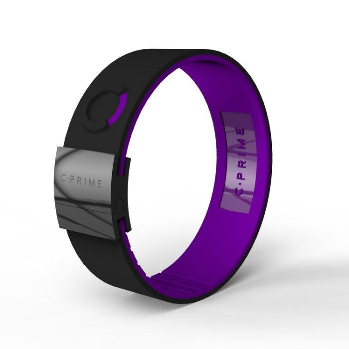 UFC MMA體驗美國科技平衡手環C.Prime手環~頂尖運動員的致勝關鍵~健身房時尚手環-03黑紫