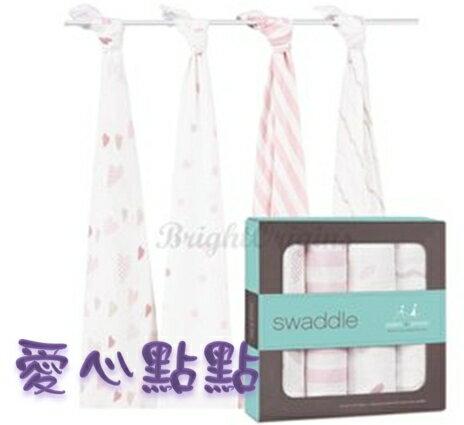 【淘氣寶寶】Aden + Anais全款式 聯名設計雙層細紗布輕柔新生兒包巾(4入裝) FBPPL 4