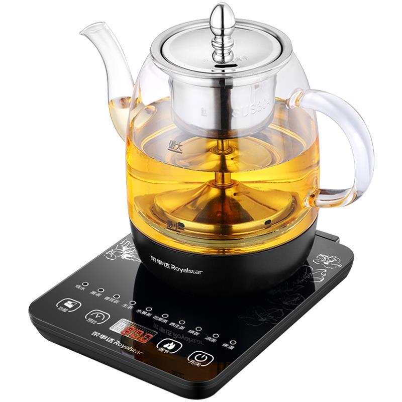 榮事達煮茶器黑茶普洱玻璃電熱水壺蒸茶壺全自動保溫蒸汽電煮茶壺-220v♠極有家♠
