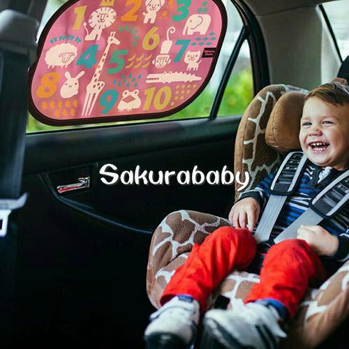 日本 寶寶車窗學習遮陽罩 汽車遮陽罩 車窗遮陽 數字 字母 知育學習 櫻花寶寶