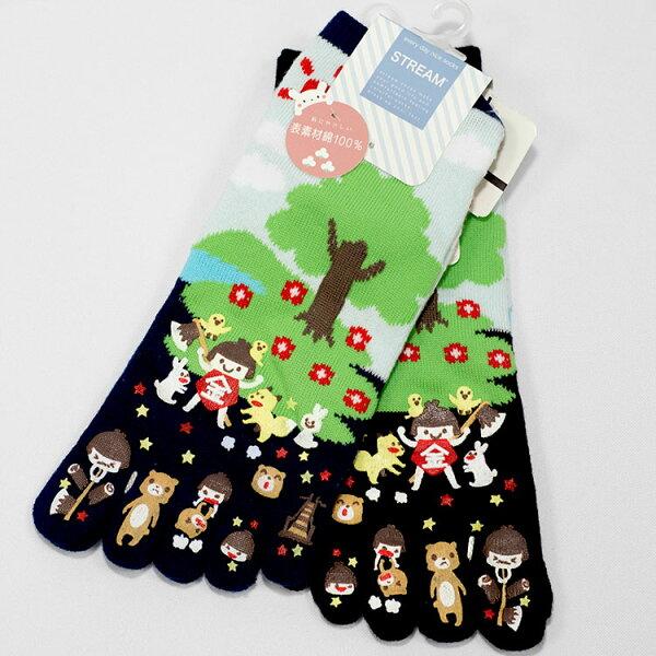 金太郎可愛防滑止滑襪綿襪子23-25cm男女皆適日本帶回正版品