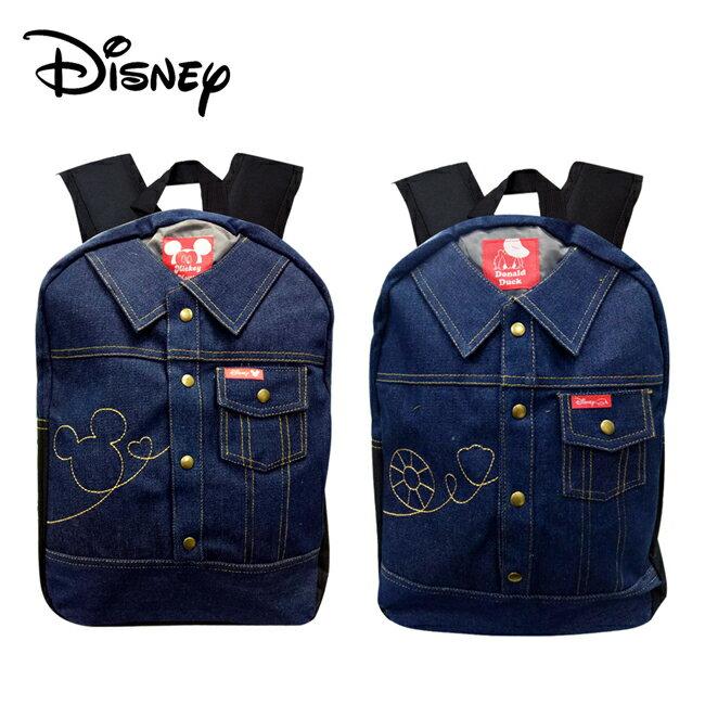 【正版授權】迪士尼 牛仔布 後背包 背包 書包 米奇 唐老鴨 Disney - 限時優惠好康折扣