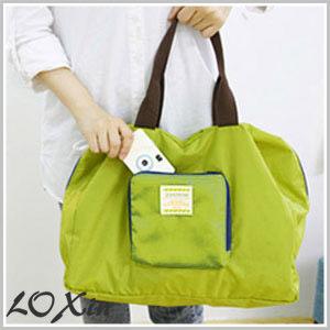 Loxin【SA0059】法蒂希 可折疊收納包 購物袋 單肩包 包中包 旅行旅遊收納 出國收納