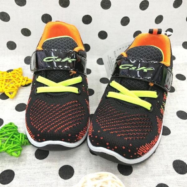【巷子屋】童款混色編織運動休閒鞋[508]黑MIT台灣製造超值價$390