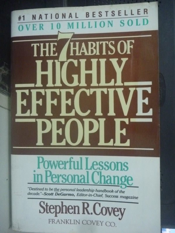 【書寶二手書T2/財經企管_LKQ】The 7 Habits Of Highly Effective People