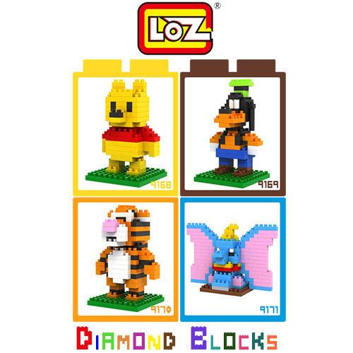 LOZ 迷你鑽石小積木 迪士尼 / 小熊維尼 系列 樂高式 組合玩具 益智玩具 原廠正版 大盒款