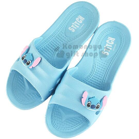 〔小禮堂〕迪士尼 史迪奇 塑膠拖鞋《藍.大臉》環保室內防滑