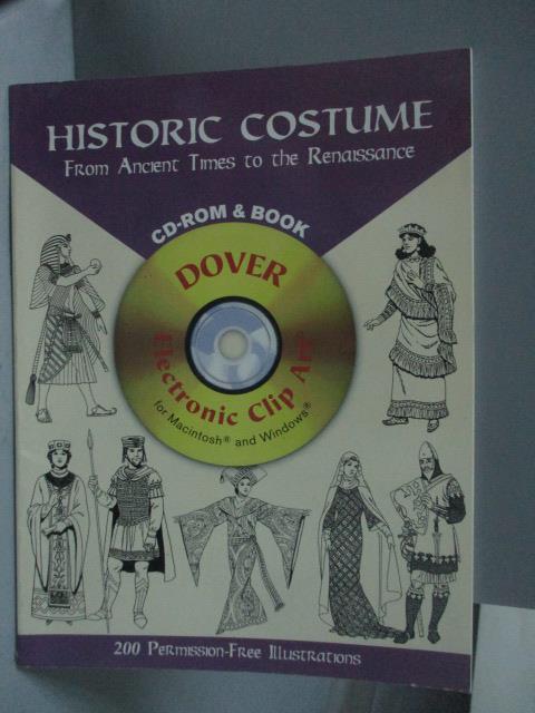 ~書寶 書T1/原文書_QYC~Historic Costume~From Ancient