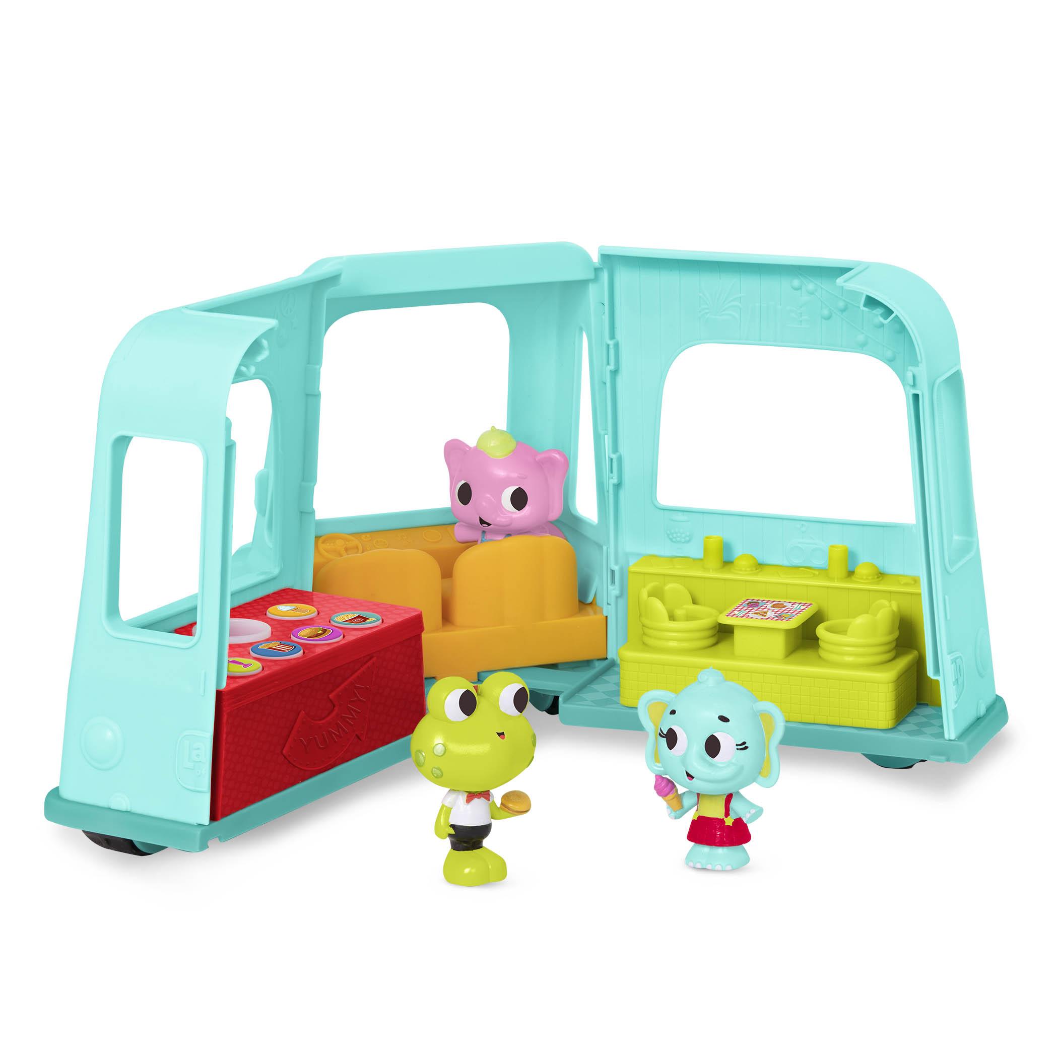 【淘氣寶寶】美國 B.Toys 感統玩具 芙洛克聲鮮快餐車 LB1913Z【淘氣寶寶】