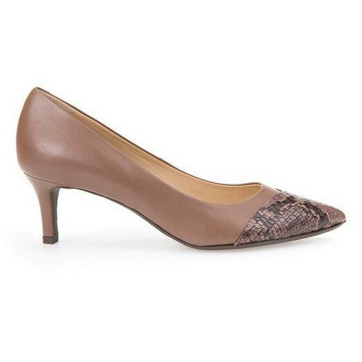 GEOX - D ELINA 仕女鞋 納帕皮革 塗層牛皮 聚酯纖維