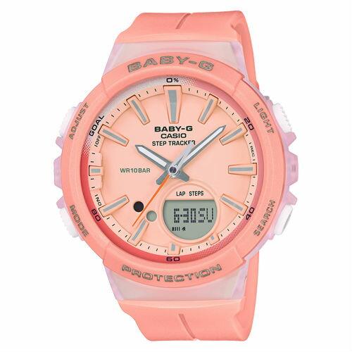 CASIOBABY-GBGS-100-4A計步功能StepTracker運動數位流行腕錶