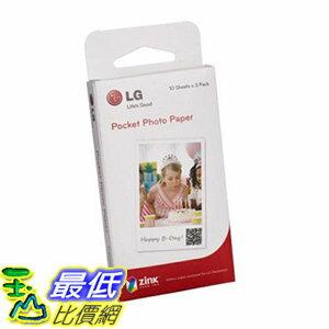 [106美國直購] LG 相片印表機相片紙 LG Electronics Pocket Photo Paper for Pocket Photo Printer, 30 Sheets, 2x3吋
