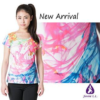 ~Jinnie L. L.~渲染水紋T恤 T~shirt ~ 女性 輕薄透氣 修身  製
