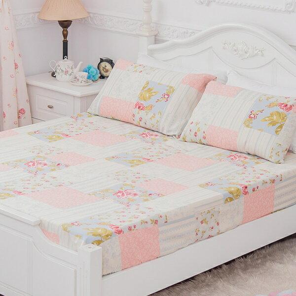 [SN]#B168#寬幅100%天然極緻純棉5x6.2尺雙人床包+枕套三件組(不含被套)*台灣製/床單/床巾