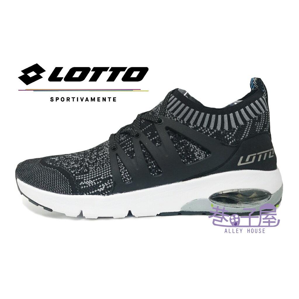 【巷子屋】義大利第一品牌-LOTTO樂得 男款Fiber Weave編織襪套運動跑鞋 碟型避震 [5050] 黑 超值價$690