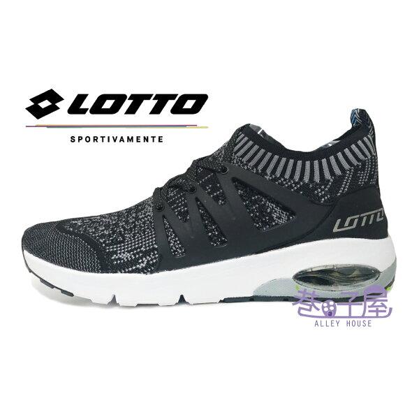 【巷子屋】義大利第一品牌-LOTTO樂得男款FiberWeave編織襪套運動跑鞋碟型避震[5050]黑超值價$690