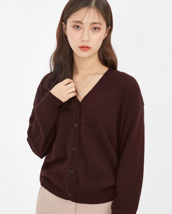 ~AIN~ 開襟衫 fall season v~neck cardigan