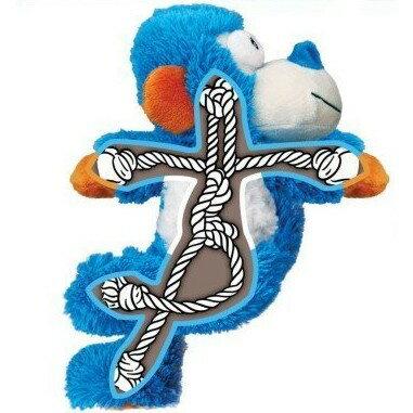 KONG Cozies毛絨玩具-翹腳繩結青蛙 S/M