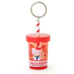 X射線【C742051】Hello Kitty 塑膠杯型鑰匙圈,包包掛飾/鑰匙圈/吊飾/鎖圈