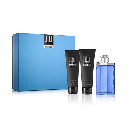 Dunhill Desire Blue 登喜路藍調男性淡香水三件式 組 100ml 精美名