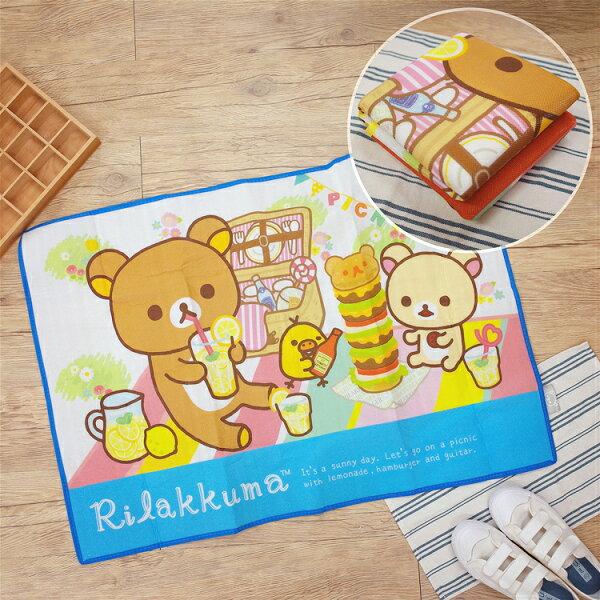 PGS7拉拉熊系列商品-韓貨拉拉熊Rilakkuma市區小型野餐墊Picnic夏日野餐必備【SFZ71040】