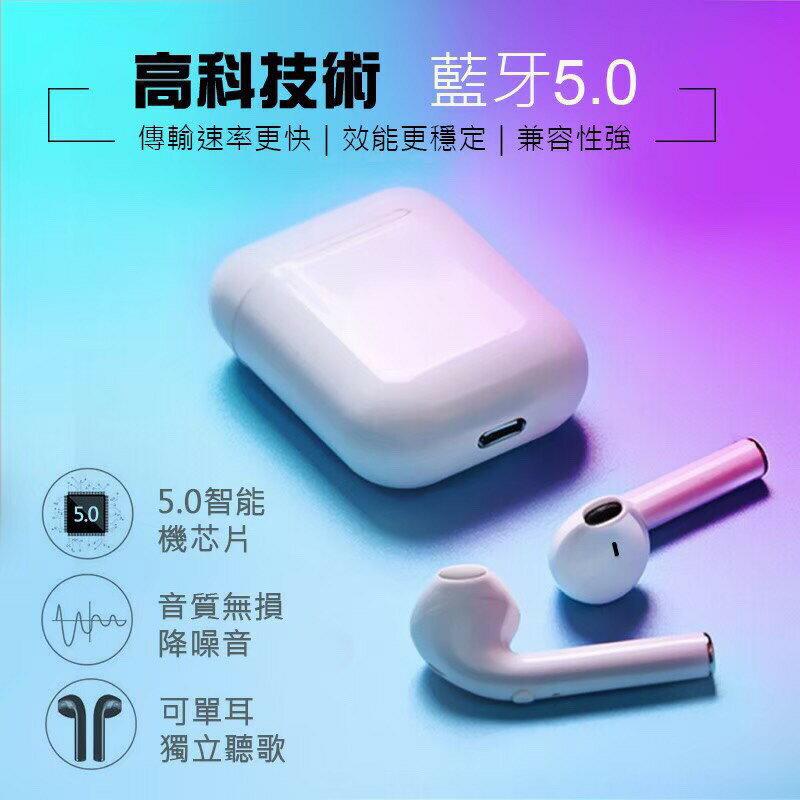 【無線藍芽耳機】耳機 / 無線 / 藍芽5.0 / 高音質 / 蘋果安卓 / 單耳獨立 / 座艙充電 / i9s-TWS【LD205】 1