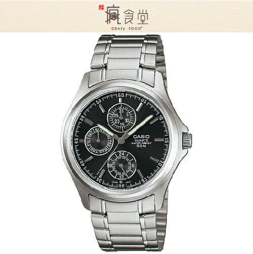 CASIO 卡西歐手錶 成熟品味時尚腕錶 黑 MTP-1246D-1A
