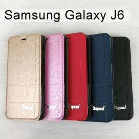【Dapad】經典隱扣皮套SamsungGalaxyJ6(5.6吋)