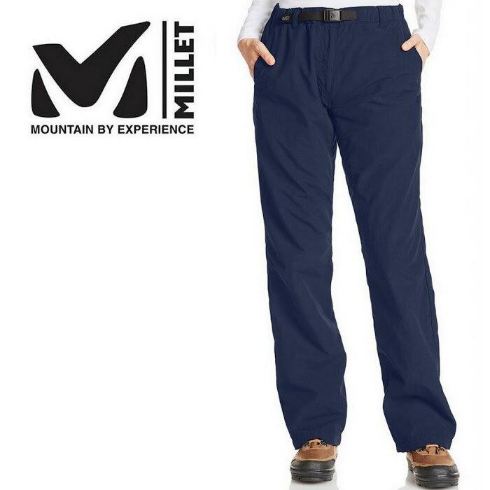 五折出清Millet 登山褲/工作褲/保暖長褲/健行/旅遊 Warm Easy Cargo pant 女 MIV01355 藍