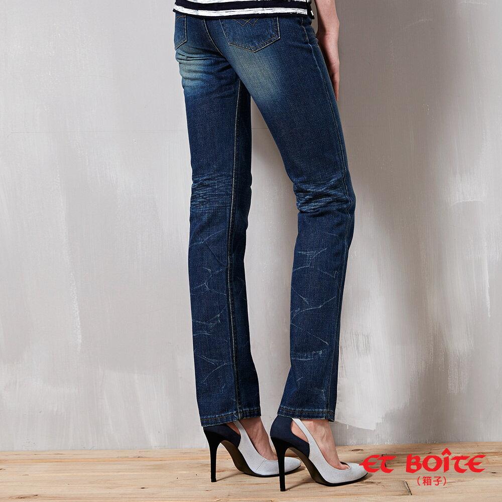 【精選5折】折痕低腰窄直筒褲 - BLUE WAY  ET BOiTE 箱子 3