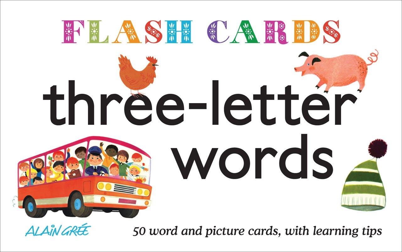 Three Letter Words Flash Cards 單字學習圖卡
