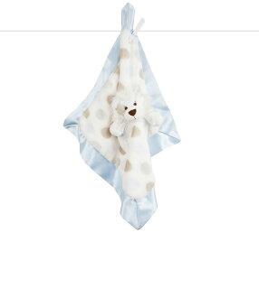 美國Little Giraffe 【豪華系列】豪華彩色點點獅子安撫巾-藍色