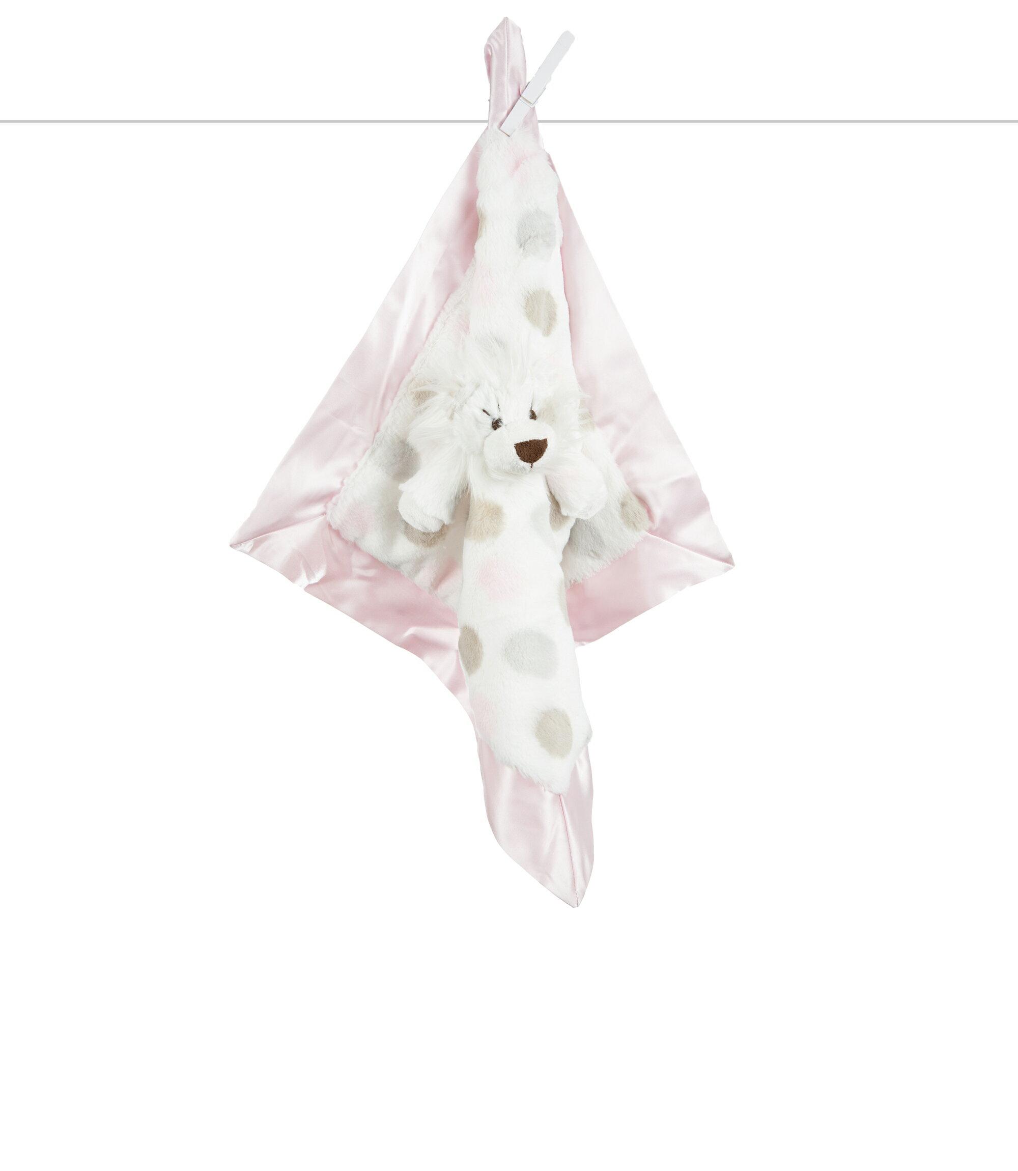 美國Little Giraffe 【豪華系列】豪華彩色點點獅子安撫巾-粉紅色